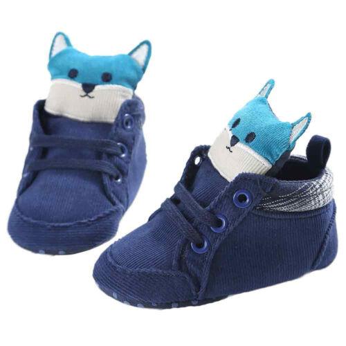 Baby Girl Boys Fox Warm Hight Cut Shoes Sneaker Anti-slip Cute Soft Sole Toddler