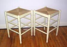 Vintage Square Counter STOOLS - Rush Seat French Country Style - made Italy