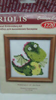 Riolis Bead Embroidery Counted Cs Kit - 1120 Fantasy Dinosaur 4 By 4