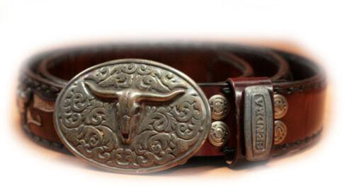 8322 Ceinture marron western country en cuir SENDRA Ref