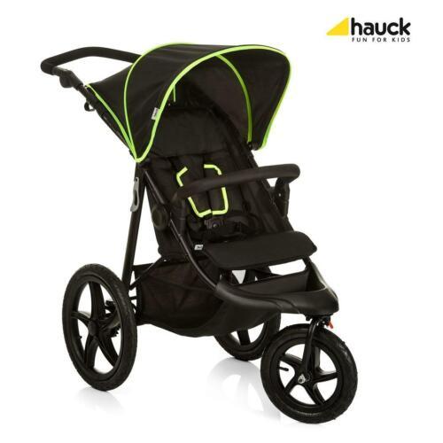 Black//Neon Yellow RRP £199.99 Hauck Runner 3-Wheel All-Terrain Stroller