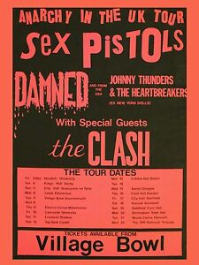 SEX-PISTOLS-Clash-Bournemouth-40-6cm-x-30-5cm-Foto-Reproduccion-CONCIERTO