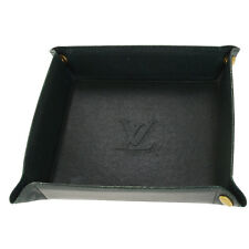 Auth LOUIS VUITTON VIDE POCHES Jewelry Tray Taiga Leather Green M30314 01Q437