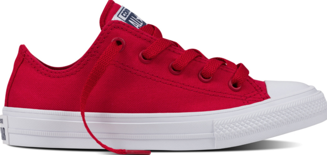 New Converse Chuck Taylor as II Ox 350151c Salsa Red Canvas Casual Shoes Youth R