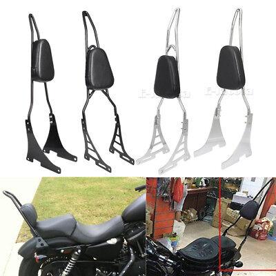 Sissy Bar Backrest Pad For Harley Sportster XL883C XL883R XL1200C S XLH883 04-16