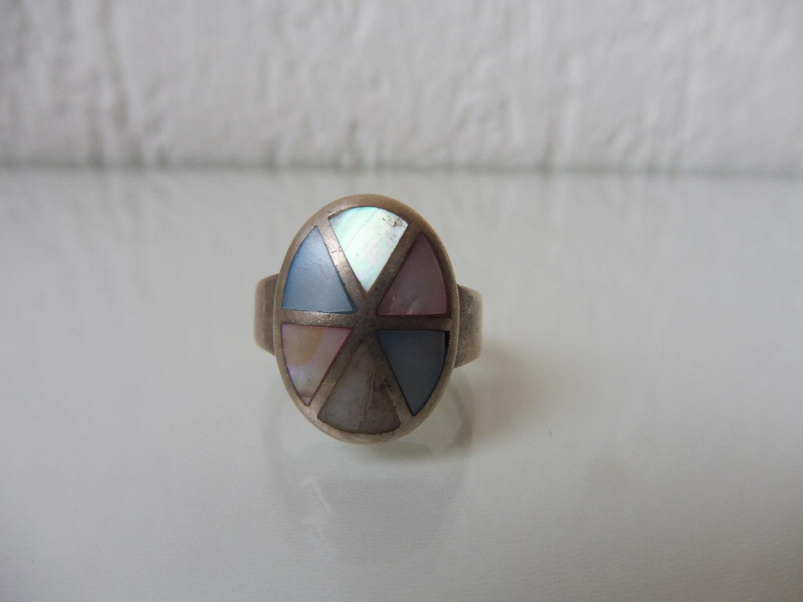 Schöner,alter Ring__925 silver__mehrfarbiger Steinbesatz__