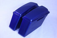 Superior Blue C Hard Saddlebags Factory For Harley Sportster Dyna Touring Glide