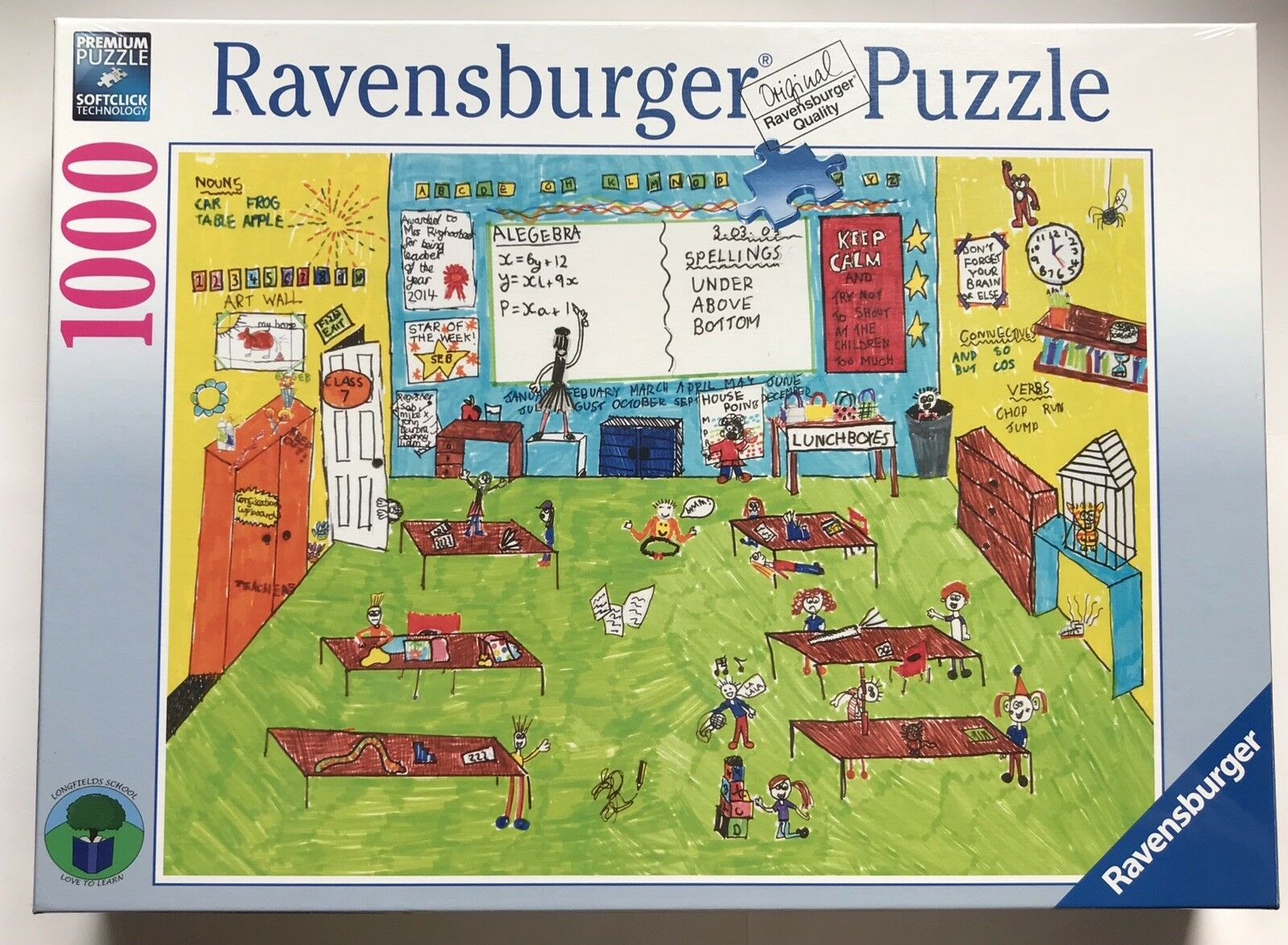 Ravensburger Classroom CHAOS 1000 Piece Jigsaw Puzzle Edition limitée NEW-Sealed