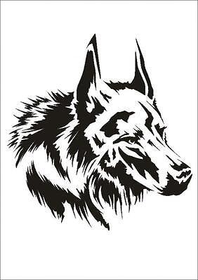 Wandschablone Maler T-shirt Schablone W-647 Wolf ~ Umr Design Ungleiche Leistung