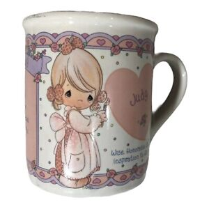 Vintage Precious Moments Enesco Porcelain Women Girl Name Judy Mug Personalized