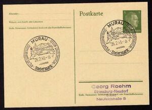 Ganzsache-MURAU-Cachet-Special-26-02-43-WW2-Entier