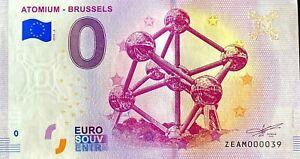 BILLET-0-EURO-ATOMIUM-BRUSSELS-BELGIQUE-2018-NUMERO-39