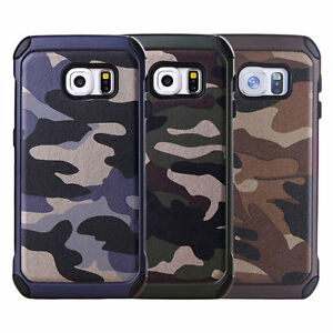 Hybrid-Army-Camouflage-Military-Shockproof-Rubber-PC-Rugged-Case-For-Cell-Phone
