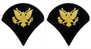 2-Par-Ejercito-Especialista-E-4-Azul-Rango-Chevron-Insignia-Parches-Macho
