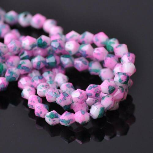 Wholesale 100pcs 6mm Bicone Faceted Charms Crystal Glass Loose Spacer Beads