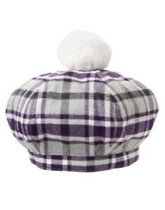 GYMBOREE-SUGARPLUM-SPARKLE-PLAID-POM-POM-SWEATER-HAT-0-12-2T-3T-NWT