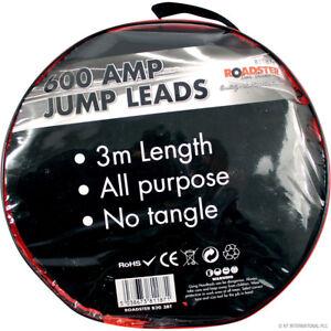 600 AMP JUMP LEADS 3 METRES LENGTH