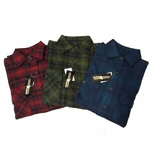 Men-039-s-Flannel-Shirt-Very-Heavy-Like-A-Jacket-Size-2XL-034-Work-N-039-Gear-034-Red-amp-Olive