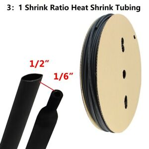 "3:1 Marine Grade Heat Shrink Tubing Dual Wall Adhesive Line Clear 3//8/"" x 15 ft"
