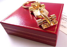 24k Gold Racing Car Formula 1 Keyring finished in pure GOLD Unique Gift in Case