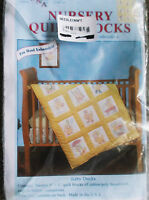 Stamped 12 Nursery Quilt Blocks Baby Ducks Cross Stitch Embroidery Designs
