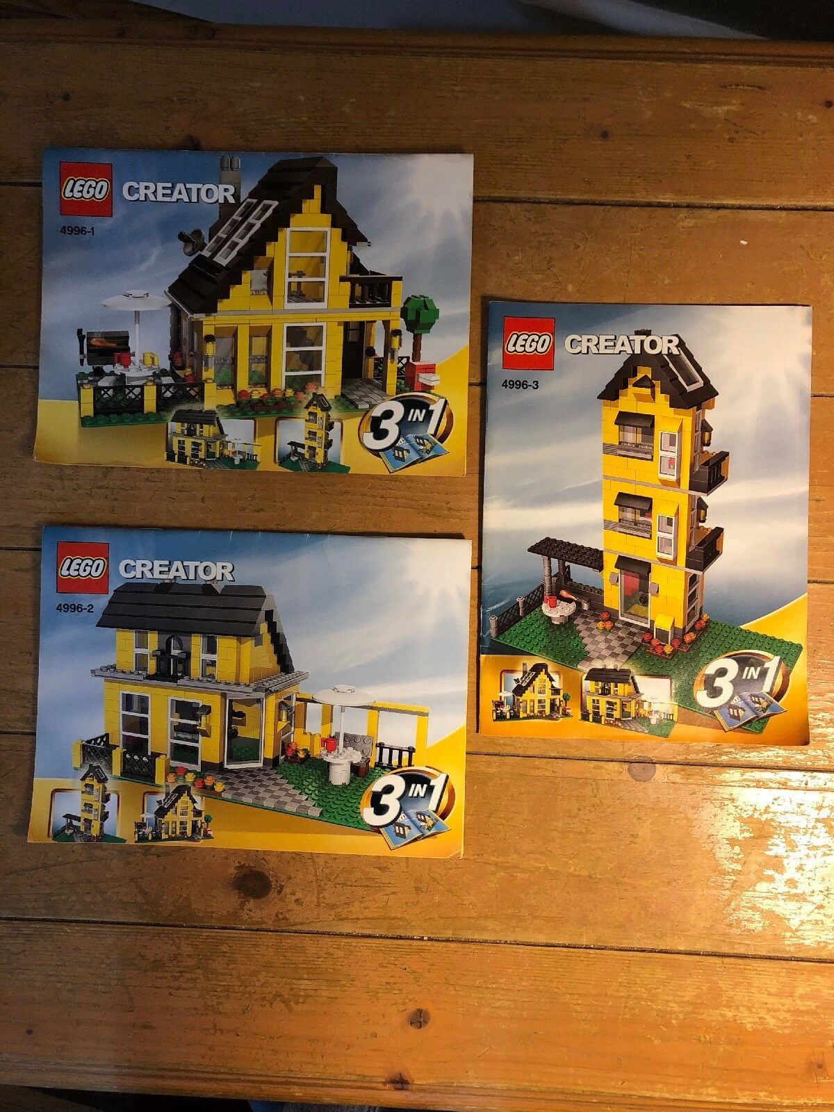 LEGO Creator 4996 Beach House 3 in 1 3 Instruction Manuals Retired