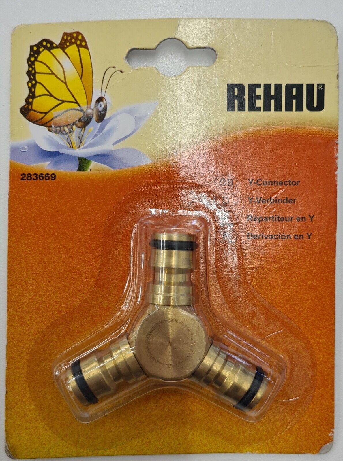REHAU 283669 1/2-inch Brass Y-Connector