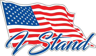 I Stand American Flag Decals Stickers for Car Truck Boat Window Vinyl Graphics