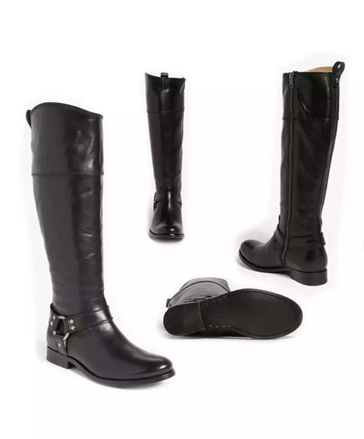 il più recente MWT Frye Melissa Harness nero nero nero Riding Equestrian Sz 8  298.00 stivali  fabbrica diretta