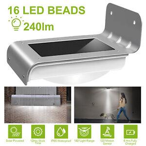 Energia-Solar-Sensor-De-Movimiento-Jardin-lampara-de-seguridad-16-LED-Luz-Exterior-Impermeable