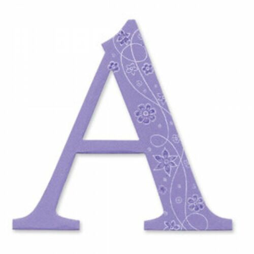 Sassy Serif Letter 4 INCHES INDIVIDUAL Sizzix Bigz Alphabet Uppercase Die
