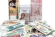 Collection of 50 Different World Banknotes Uncirculated MINT With List