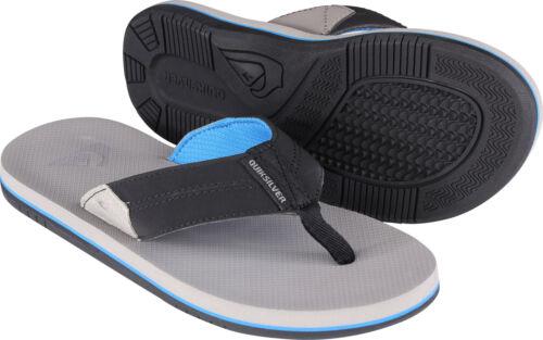 Gray//Black//Blue Quiksilver Mens Coastal Oasis II Beach Casual Sandals
