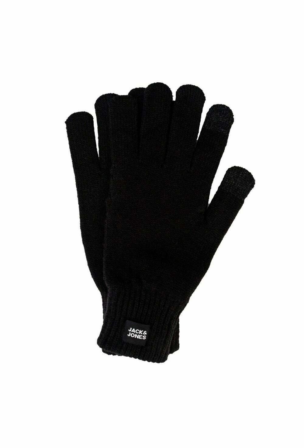 Jack And Jones Jacoliver Knit Gloves Black