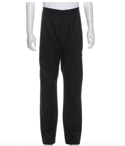 Authentic Gucci Men's Pants Dress Black Classic V… - image 1