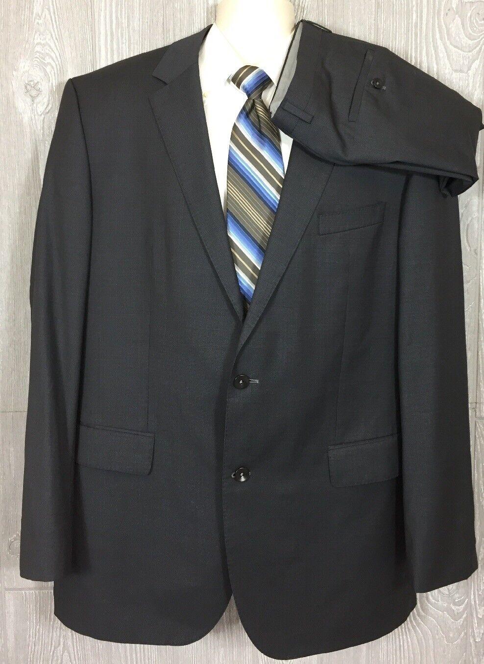 10f346379 Recent Hugo Boss Super 100s Slim Fit Grey Mens 2pc Suit 46 Long 38x33 (t12
