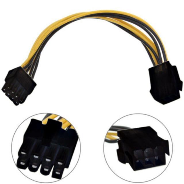 PCI-E 6pin to 8Pin Adapter Molex Cable 20CM for ATI NVIDIA video graphic Card KH