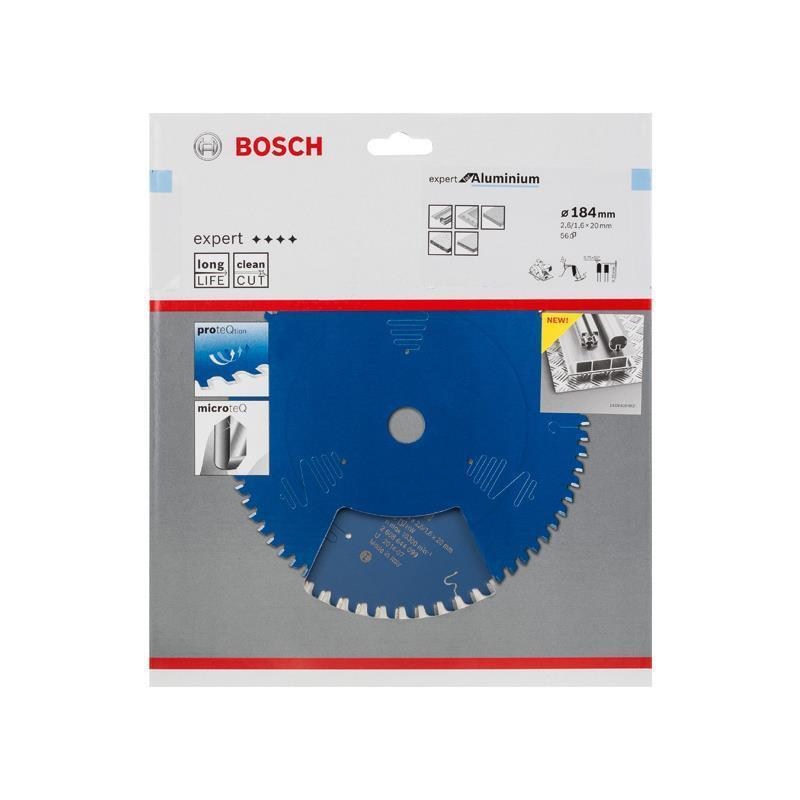 Bosch HM-Sägeblatt 184x2,6x30 Z56 2608644100 Expert for Aluminium Handkreissägen