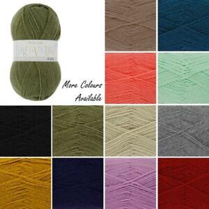 King-Cole-Big-Value-4-Ply-Wool-Yarn-Knitting-100-Premium-Acrylic-100g