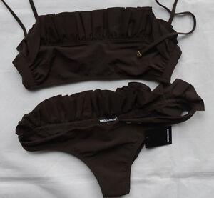 Dsquared2 Bikini mit Rüschen D6BP50520 Gr 42  MADE IN ITALY
