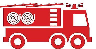 Fire engine truck vinyl wall art sticker decal child bedroom nursery play decor