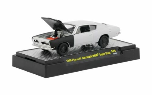 1968 Plymouth Barracuda Resto Object  **** M2 Machines Detroit Muscle 1:64 OVP