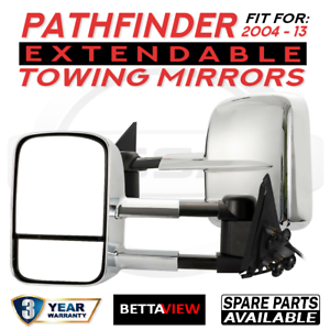 Bettaview-Extendable-Towing-Mirrors-Nissan-Pathfinder-2004-To-2013-Chrome