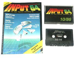 lt-INPUT-64-mit-Kassette-10-86-gt-Magazin-fuer-Commodore-C64-Z1D035