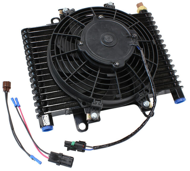 """Aeroflow AF72-6001 13.5 X 9"""" Comp Trans Cooler With 120W Fan And Switch -10"""