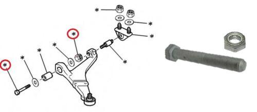 PEUGEOT 106 CITROEN SAXO AX FRONT WISHBONE CONTROL ARM BOLT /& NUT 352241 693971