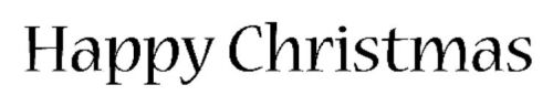 Cling Mounted Rubber Stamp - Happy Christmas 7105