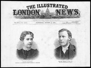 1884-Antique-Print-ETON-COLLEGE-Edmond-Warre-STOCKHOLM-Madame-Kowalevski-23