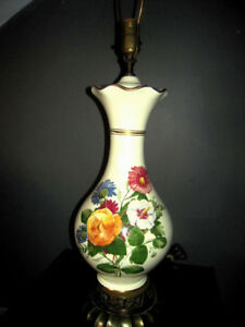 Image Is Loading Vintage Mid Century Ceramic Belly Table Lamp W