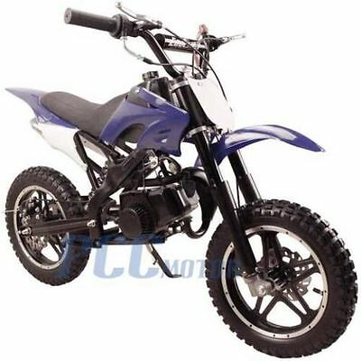 FREE SHIPPING KIDS 49CC 2 STROKE GAS MOTOR DIRT MINI POCKET BIKE BLUE H DB50X
